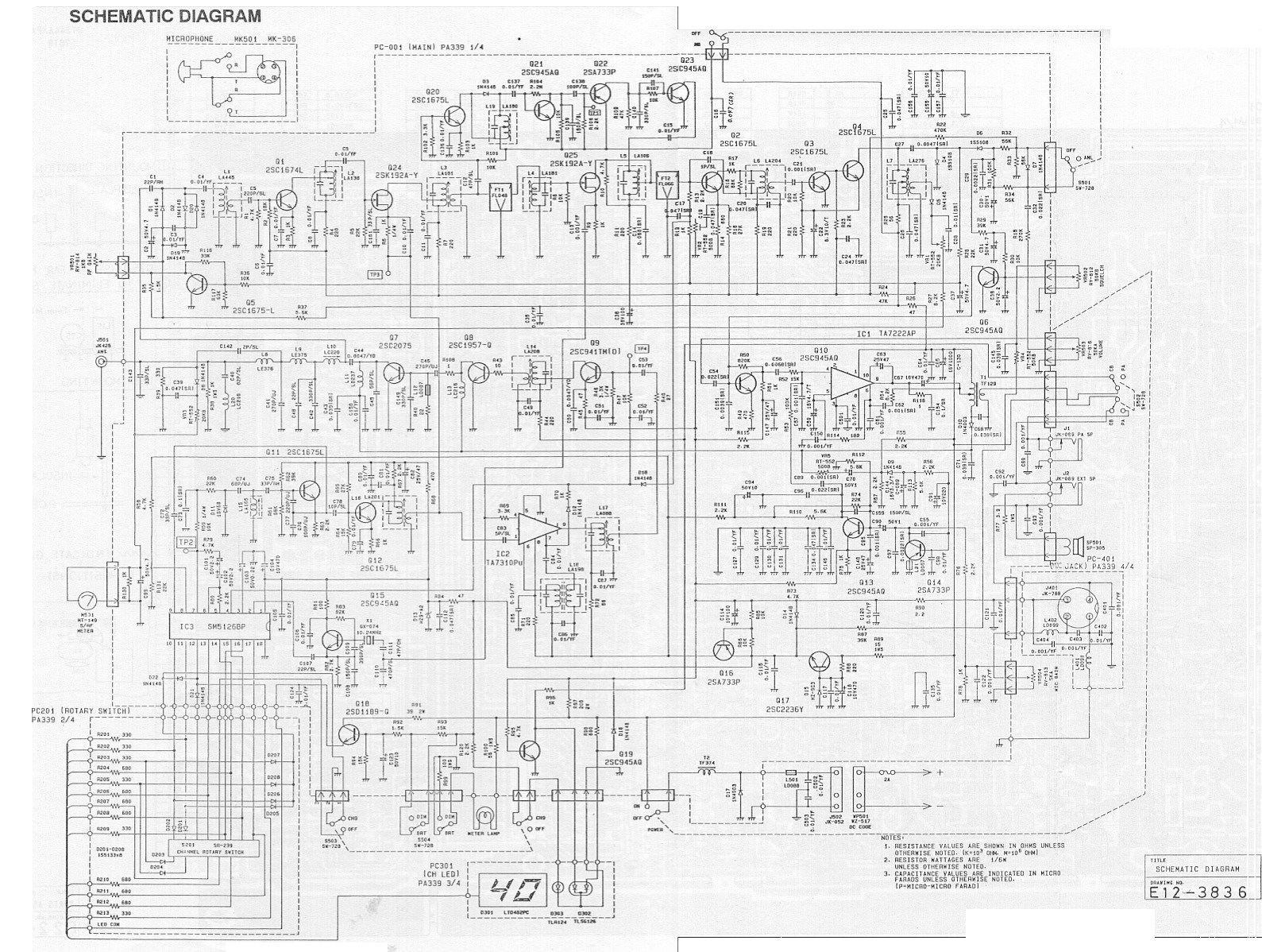 Uniden Pc66xl Cb Radio Cb50 Wiring Diagram